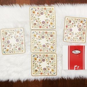 Vintage pimpernel traditional floral cork placemat